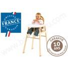 Très stable, très nature et garantie 10 ans, cette chaise haute Combelle est en promo sur BamBinou.com…